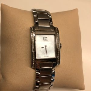 Movado Accessories - MOVADO Diamond Accented Stainless Steel Watch